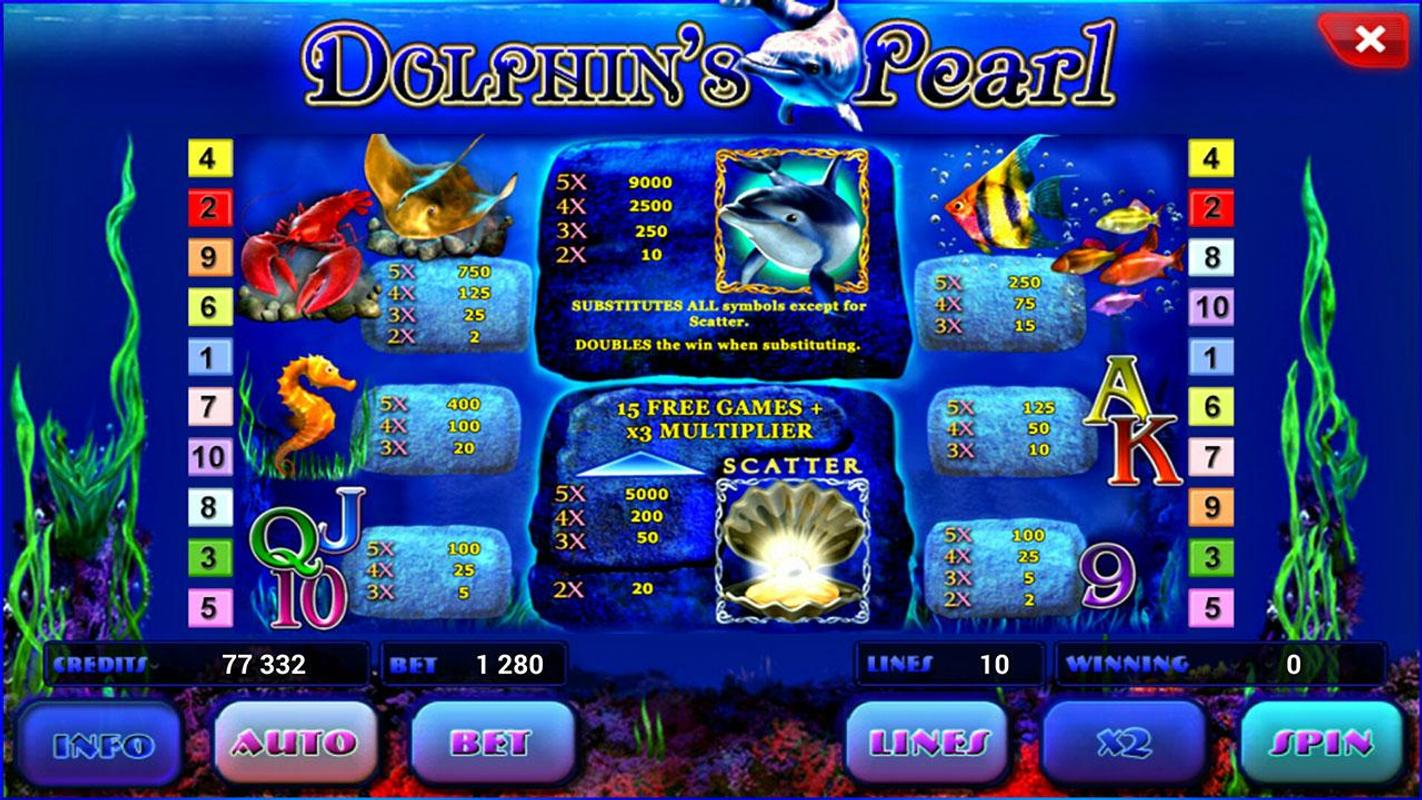 free online casino video slots dolphin pearls