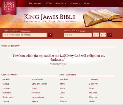 KING JAMES BIBLE apk screenshot