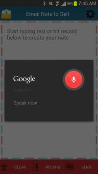 Email Note to Self apk screenshot
