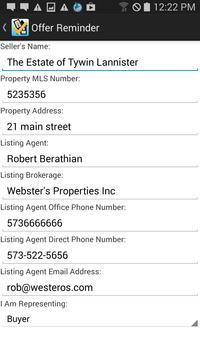 Real Estate Offer Checklist poster