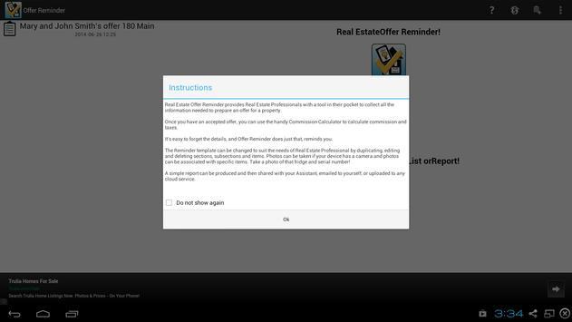 Real Estate Offer Checklist apk screenshot
