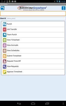 NOVAtime Mobile Web Services poster