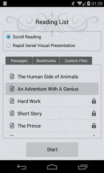 Speed Reader apk screenshot