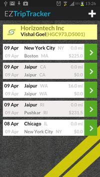 EZTripTracker apk screenshot