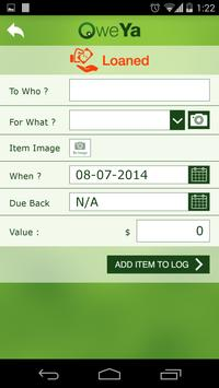 Loan Transaction Tracker OweYa apk screenshot