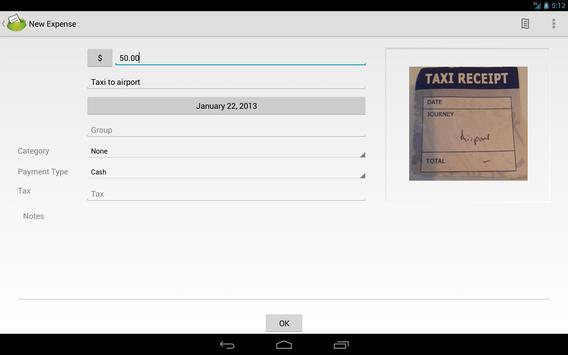 ExpenseClam (Free) apk screenshot