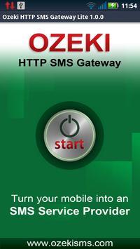 Ozeki HTTP SMS Gateway Lite poster