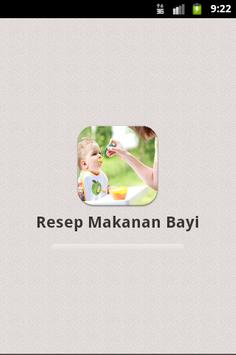 Resep Makanan Bayi poster