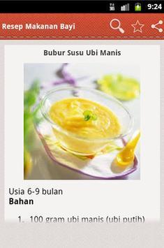 Resep Makanan Bayi apk screenshot