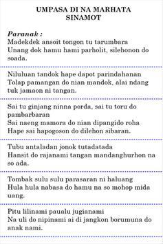 Umpasa Batak Toba apk screenshot