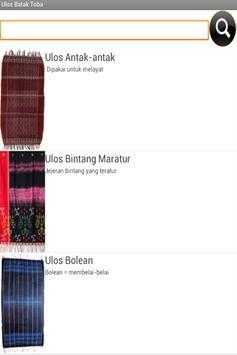 Ulos Batak Toba apk screenshot