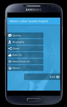 Martin Luther Quotes English poster
