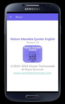Nelson Mandela Quotes English apk screenshot