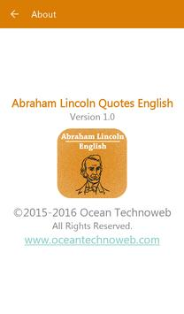 Abraham Lincoln Quotes English apk screenshot