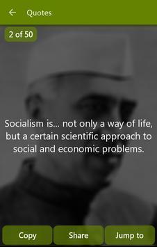 Javaharlal Nehru Quotes Eng apk screenshot