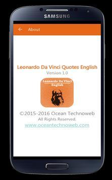 Leonardo Da Vinci Quotes Eng apk screenshot