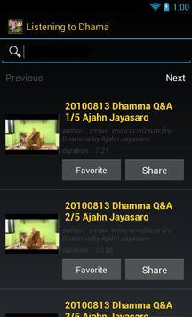 Listening to Dhamma apk screenshot