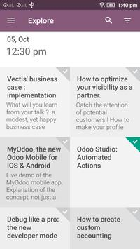 Odoo Experience 2016 apk screenshot