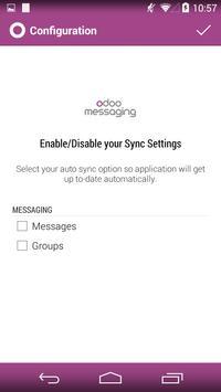 Odoo Messaging apk screenshot