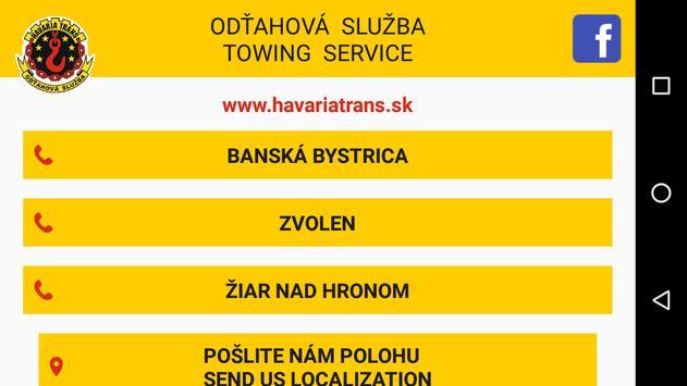 Odtahova sluzba HavariaTrans apk screenshot