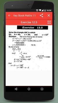 Key Book Maths Class 11 (PTB) apk screenshot