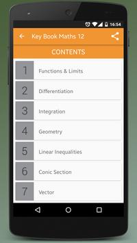 Key Book Maths Class 12 (PTB) apk screenshot