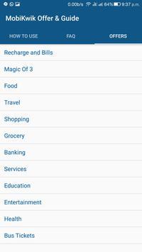 mobikwik offers coupons guide apk screenshot