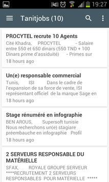 Offres d'emploi en Tunisie apk screenshot