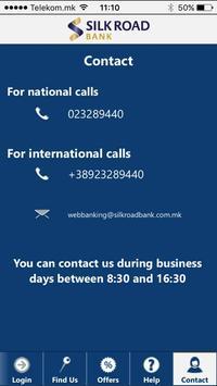 Silk Road Bank Skopje Mobile apk screenshot