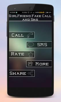 GirlFriend Fake Call And Sms poster