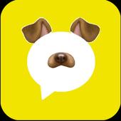 Snap Face messenger icon