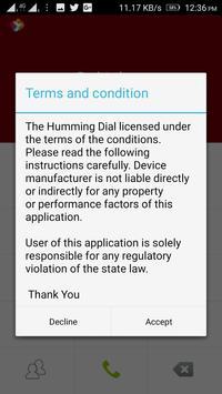 Humming Dial apk screenshot