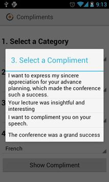 Compliments in any language apk screenshot