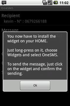 One SMS 1.6 apk screenshot