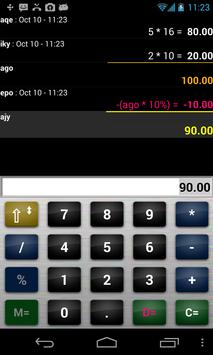 Accounting calc / spreadsheet apk screenshot