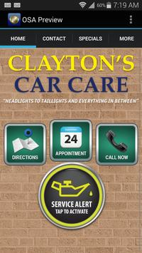 Clayton's Car Care poster