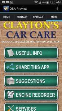 Clayton's Car Care apk screenshot