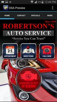 Robertsons Automotive poster