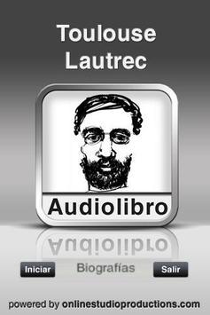 Toulousse Lautrec AudioBio poster