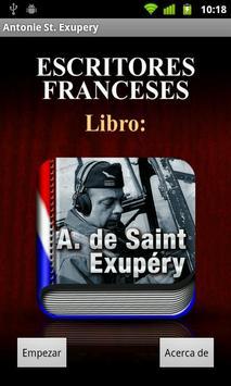 Antoine de Saint-Exupery poster