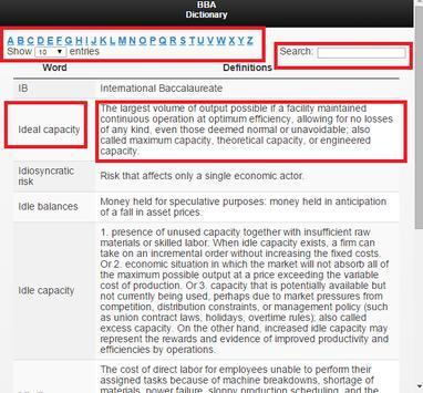 Business Study Dictionary apk screenshot