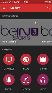 TV Mobdro Live Guide apk screenshot