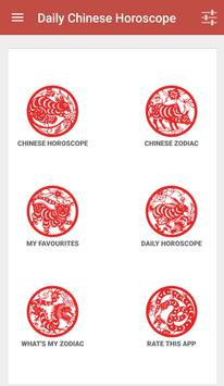 Daily Chinese Horoscope 2016 poster