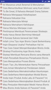 Kiat Sukses Dalam Berbisnis apk screenshot