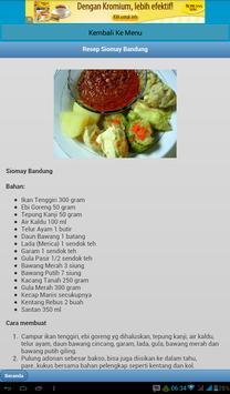 Kumpulan Resep Siomay Pilihan apk screenshot