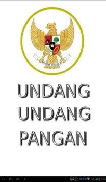 Undang-Undang Pangan poster