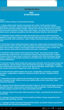 Undang-Undang Pangan apk screenshot