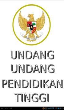 Undang2 Pendidikan Tinggi poster