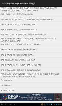Undang2 Pendidikan Tinggi apk screenshot