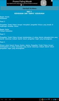 UU Pengadilan Pidana Korupsi apk screenshot